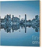 Blue New York City Wood Print