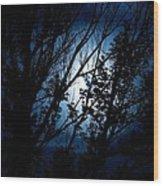 Blue Night Wood Print by Kevin Bone