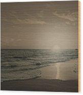 Blue Ocean - Id Wood Print by Justin Shaner