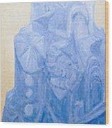 Blue Pagan Church Wood Print