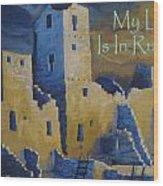 Blue Palace Greeting Card Wood Print