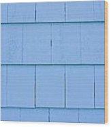 Blue Panels Wood Print