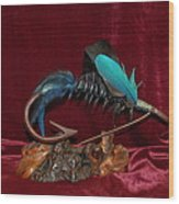 Blue Persuader Trout Fly Wood Print