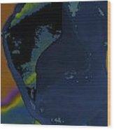 Blue Petal Wood Print