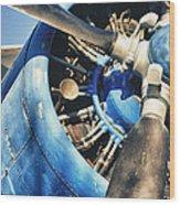Blue Plane - Antonov 2 Wood Print
