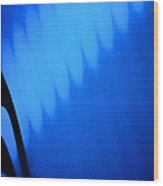 Blue Pulse Wood Print