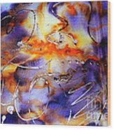 Blue Purple Orange Yellow And Silver  Wood Print by Alexandra Jordankova
