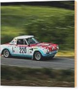 Blue Red And White Fiat Abarth Wood Print