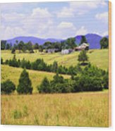 Blue Ridge Farm - 1 Wood Print