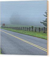 Blue Ridge Parkway At Northwest Trading Post I Wood Print