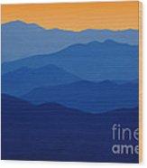 Blue Ridges - D005415 Wood Print