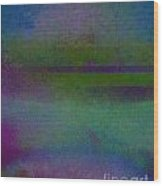 Blue Scape II Wood Print