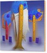 Blue Singers Wood Print