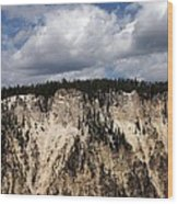 Blue Skies And Grand Canyon In Yellowstone Wood Print