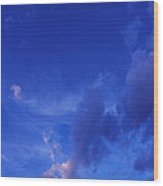 Blue Sky Always Wood Print
