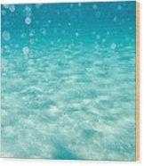 Blue Wood Print by Stelios Kleanthous