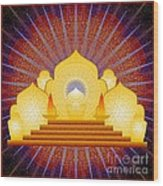 Blue Sun Temple 2012 Wood Print
