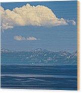Blue Tahoe Wood Print
