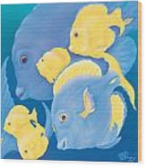 Blue Tango Wood Print