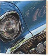 Blue Thunder - Classic Antique Car- Detail Wood Print