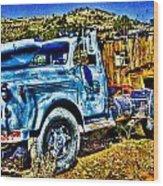 Blue Truck Wood Print