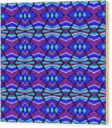 Blue Turquoise And Purple Wood Print