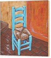 Blue Vincent Wood Print