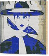 Blue Vogue Wood Print