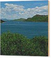 Blue Waters Of Horsetooth Reservoir Wood Print by Aaron Burrows