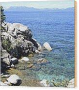 Blue Waters Of Lake Tahoe Wood Print