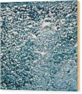 Blue White Water Bubbles In A Pool Wood Print