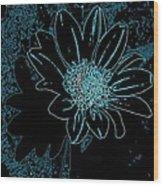 Blue Wildflower   Wood Print