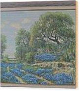 Blue Wildfowers Wood Print