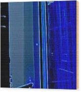 Blue Window In Paris Wood Print