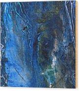 Blue Wonder Wood Print
