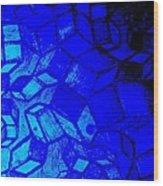 Blue Zinc Wood Print