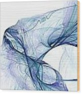 Blueangel Wood Print
