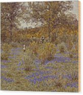 Bluebell Copse Wood Print