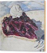 Blueberry Pie Wood Print