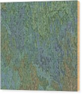 Bluegreen Stone Abstract Wood Print