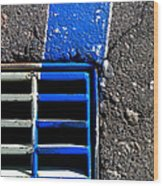Bluer Sewer Four Wood Print