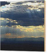 Blueray Panorama Wood Print