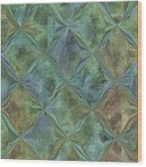 Bluetone Diamonds Wood Print