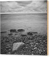 Bluffs Beach Wind 2 Wood Print
