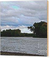 Blustery River  Wood Print
