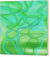 Bluzul Vergreen II Wood Print by Rosana Ortiz