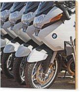 Bmw Police Motorcycles Wood Print