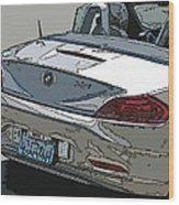 Bmw Z4 Rear Study Wood Print by Samuel Sheats