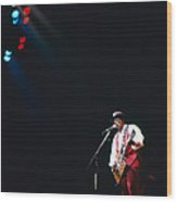 Bo Diddley On The Stage Wood Print
