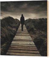 Boardwalk Of Doom Wood Print